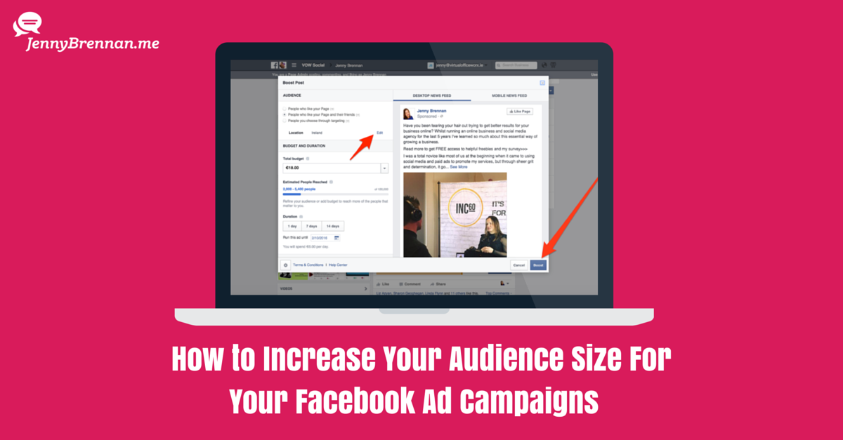 How to Increase Your Audience For Your Facebook Ad Campaigns